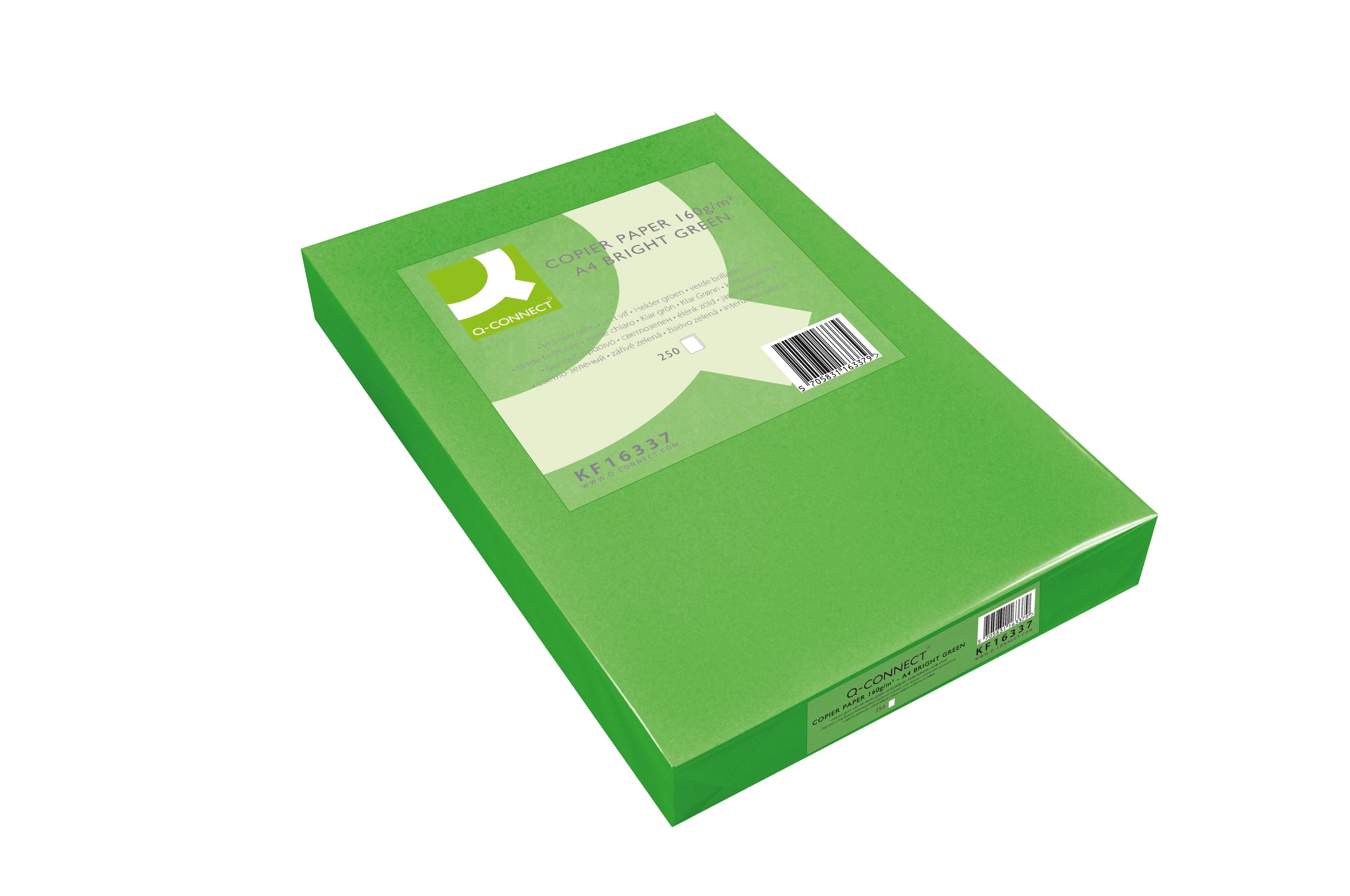 Coloured Copier Paper, A4/160g - Bright Green